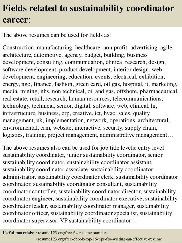 Beautiful ... 16. Fields Related To Sustainability Coordinator ...