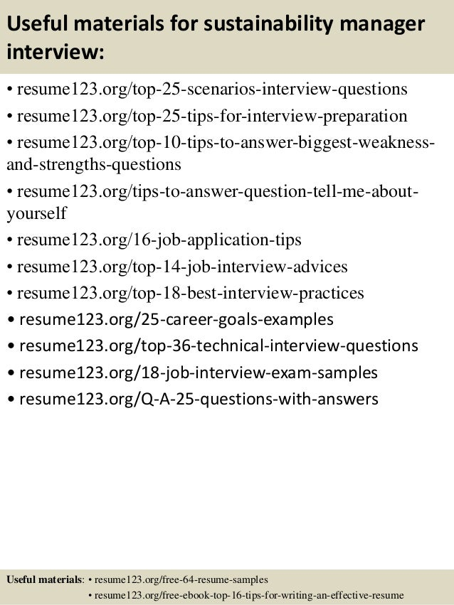 Top 8 sustainability manager resume samples