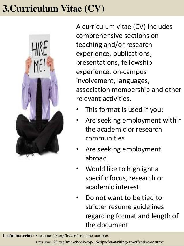 6 - Employment Resume Samples