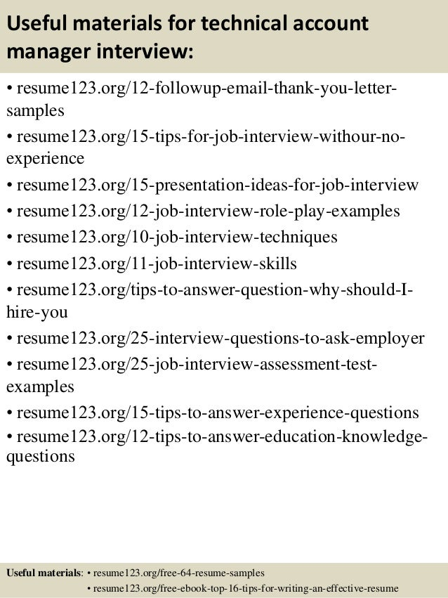 ... 14. Useful Materials For Technical Account Manager ...