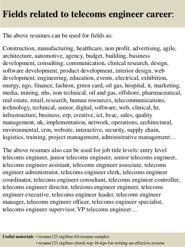 16 - Communication Engineer Sample Resume