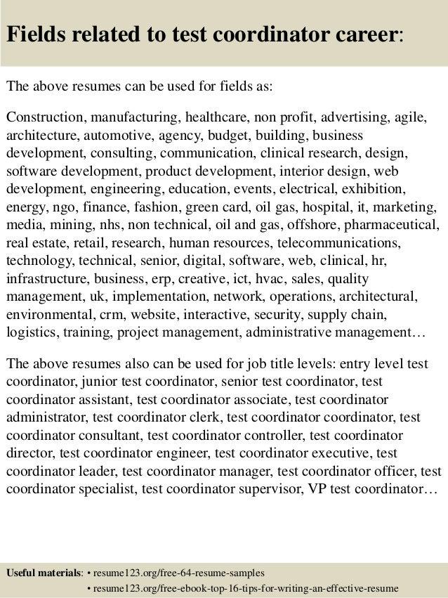 Flight Coordinator Resume Sample. volunteer experience on resume ...
