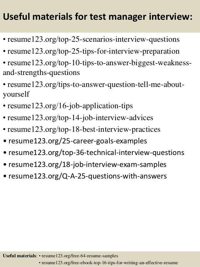 software test manager resume examples product manager and project