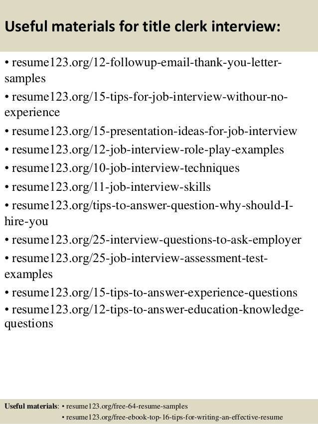 title for resume