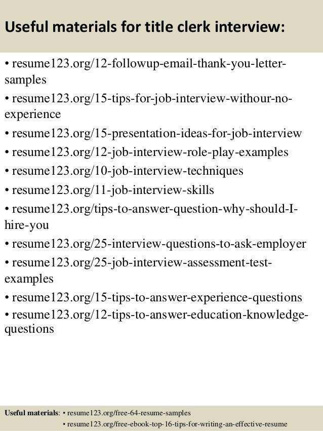 14 clerk resume samples