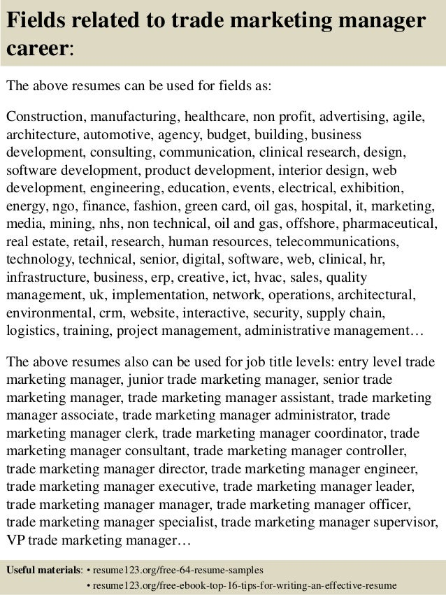 Awesome ... 16. Fields Related To Trade Marketing Manager ...