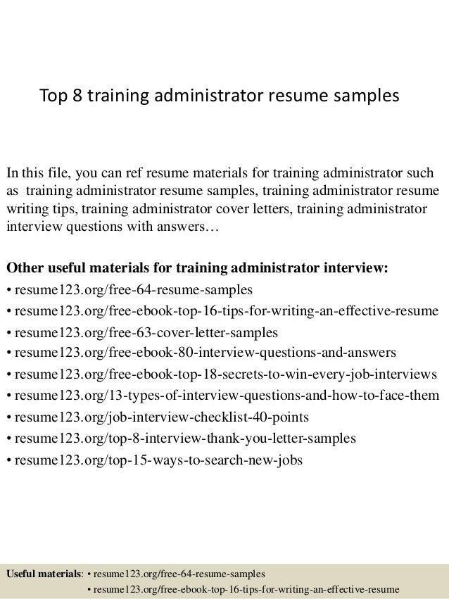 top8trainingadministratorresumesamples1638jpgcb 1428107331 – Training Resume Samples