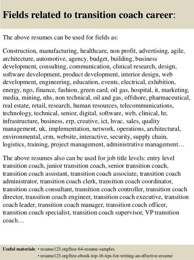coach resume example
