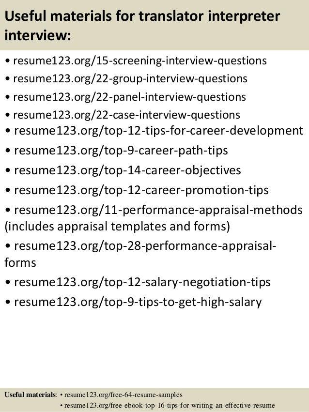 top 8 translator interpreter resume samples