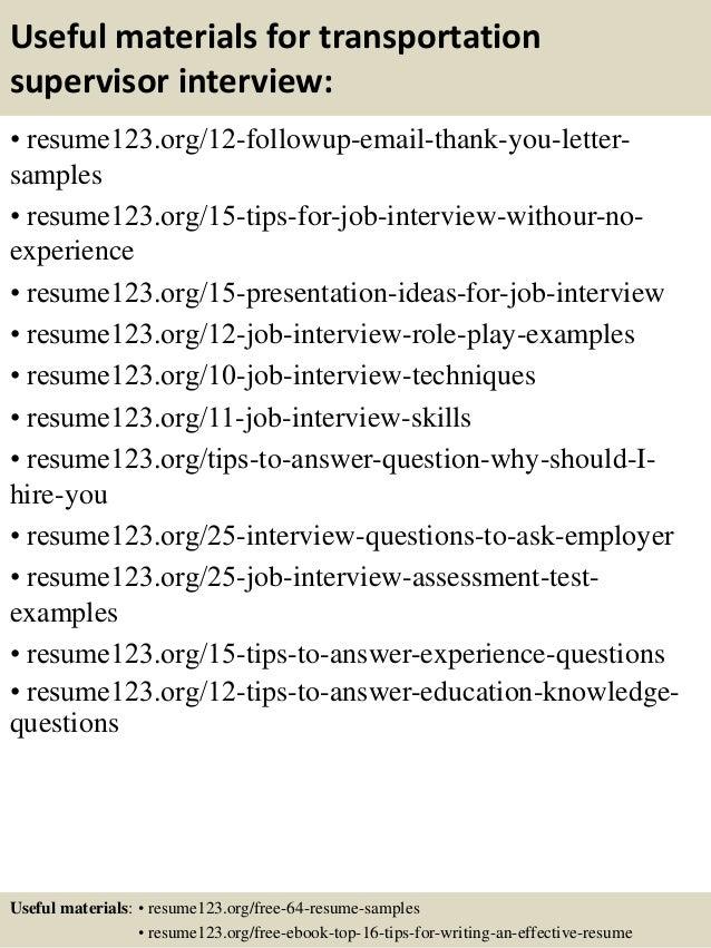 transportation manager resume sample best format