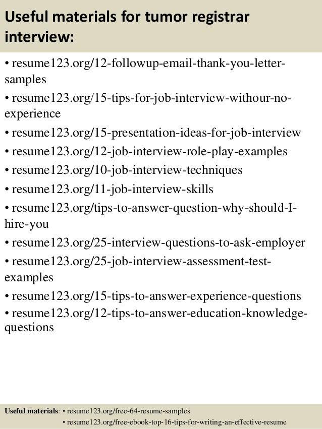 registrar resume