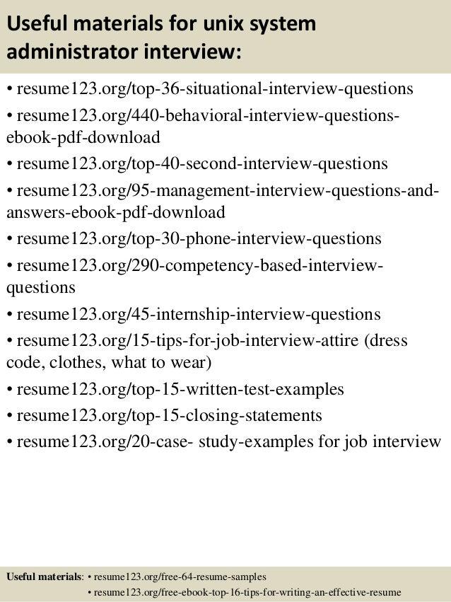 Unix Manager Resume