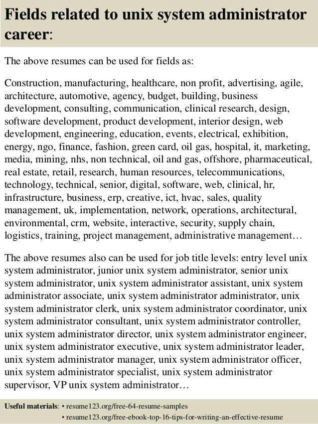 unix resumes