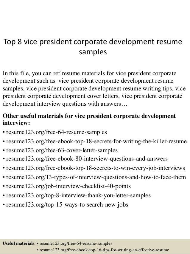 corporate development resumes