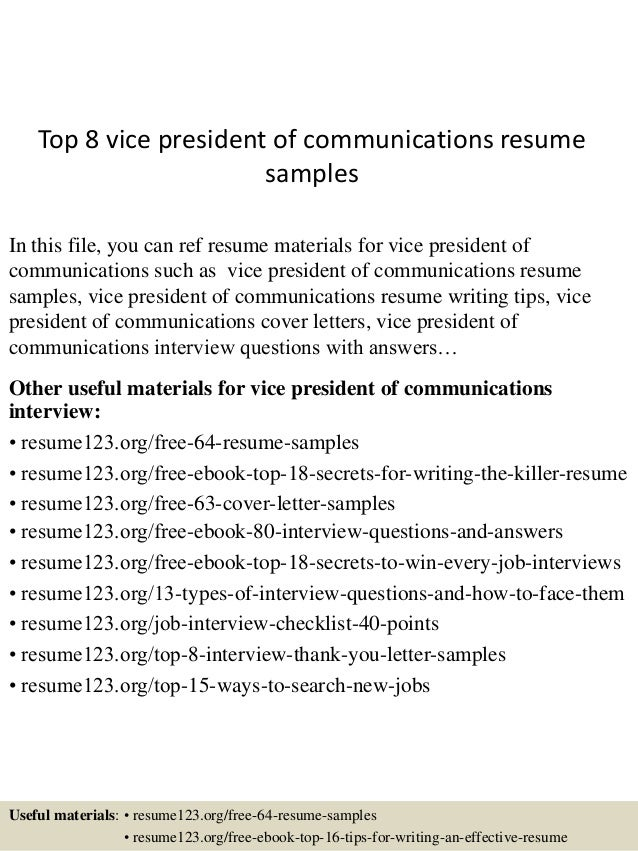 communications resume samples
