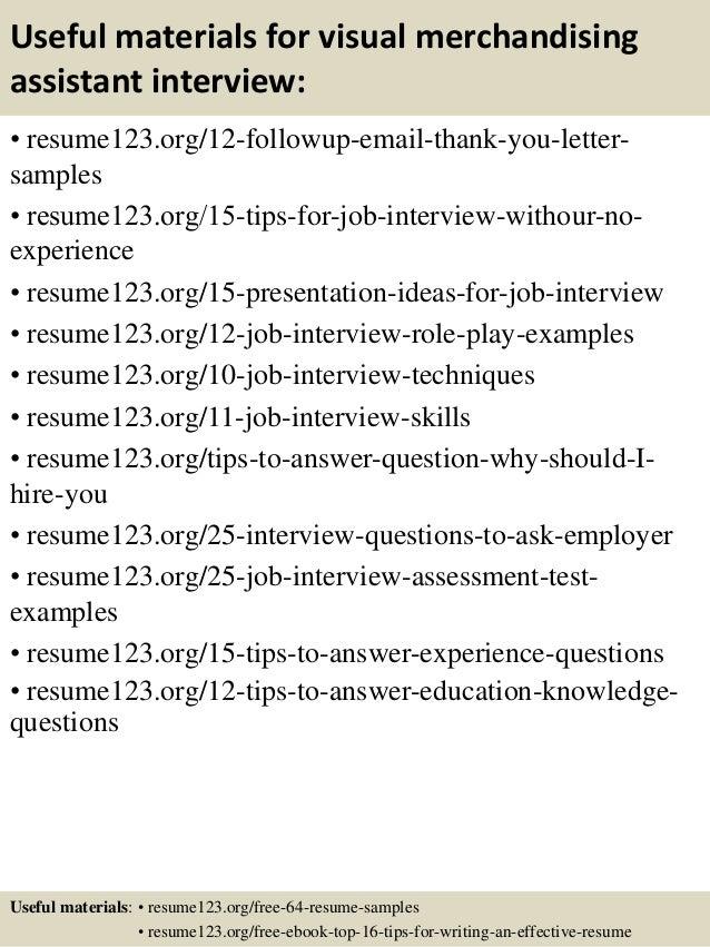 top 8 visual merchandising assistant resume samples