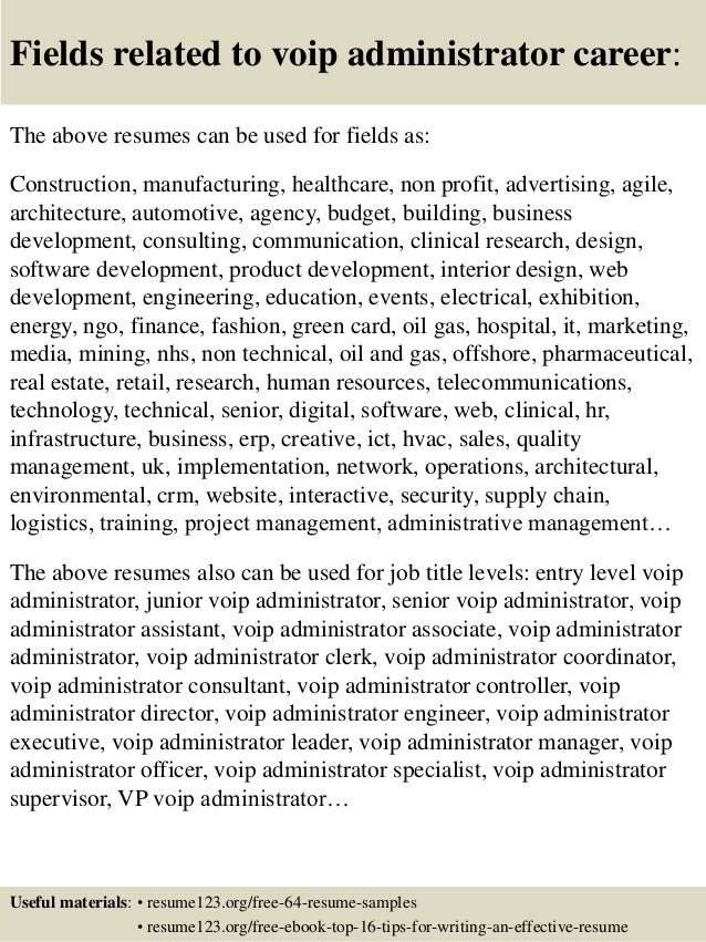 Voip Resume Examples