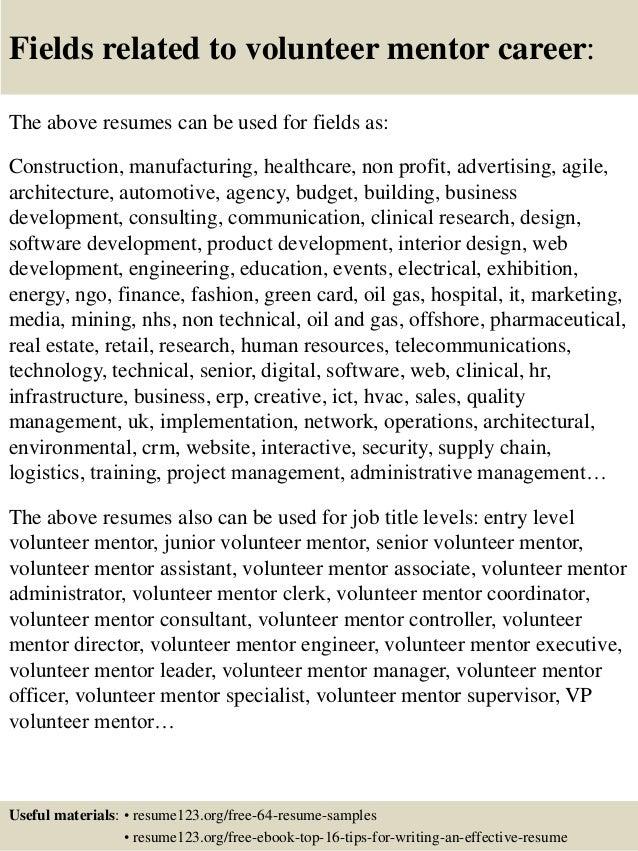 volunteering resume samples - Leon.escapers.co