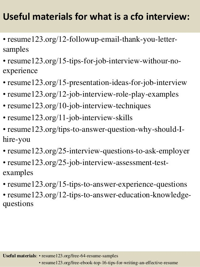Top 8 what is a cfo resume samples