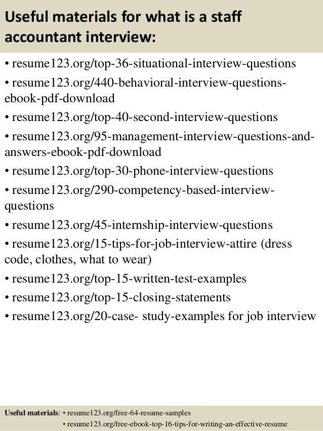 Staff accountant resume samples