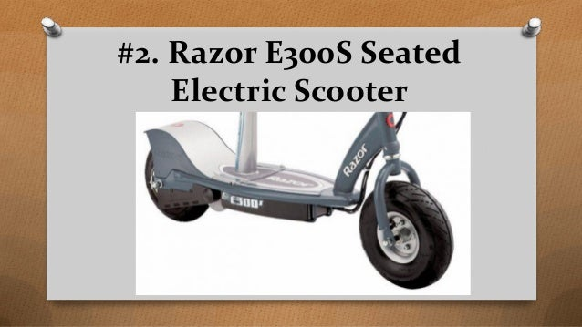 Top 9 best electric scooters with seat for adults in 2017