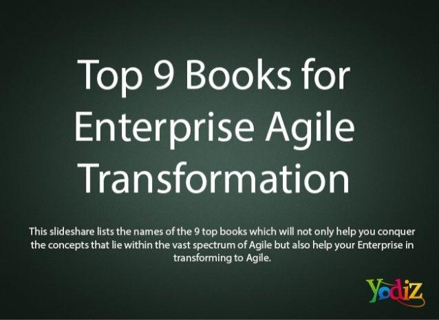 Top 9 books for enterprise agile transformation