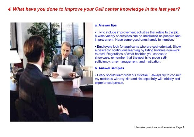 interview questions and answers - Call Center Interview Questions Answers Tips
