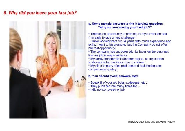 Reason For Leaving Last Job. Top 9 Call Center Interview Questions ...