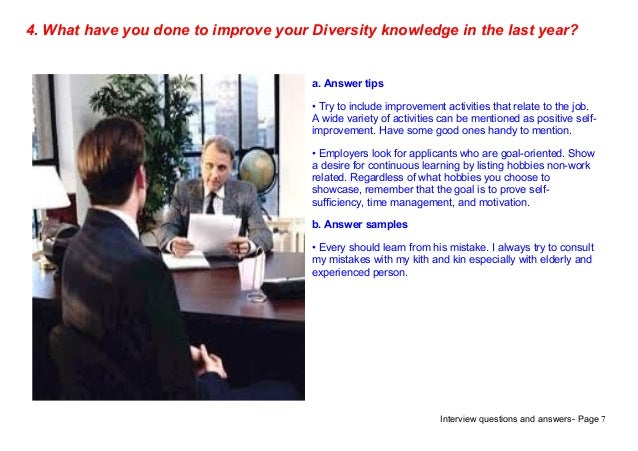 how to answer diversity questions interview