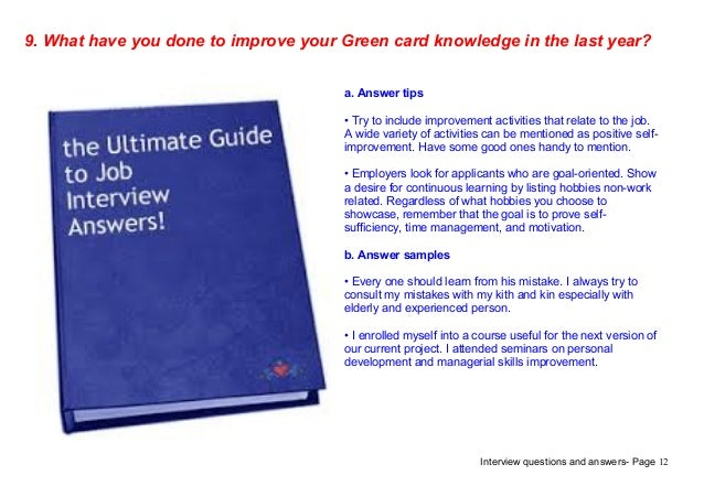 Top 9 green card interview questions answers