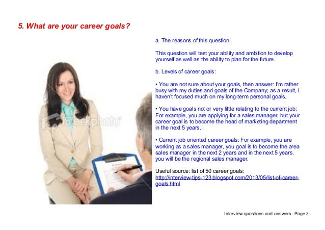 How To Answer What Are Your Career Goals. Top 9 Mainframe Testing Interview  Questions ...
