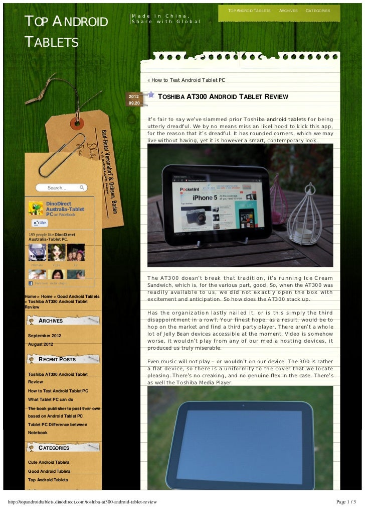 TOP ANDROID TABLETS   ARCHIVES   CATEGORIES                                                              M a d e i n C h i...