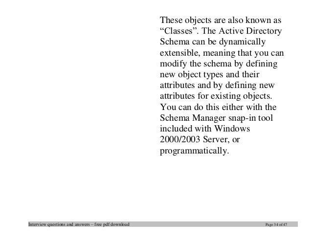 Object Oriented Design Interview Questions And Answers Pdf