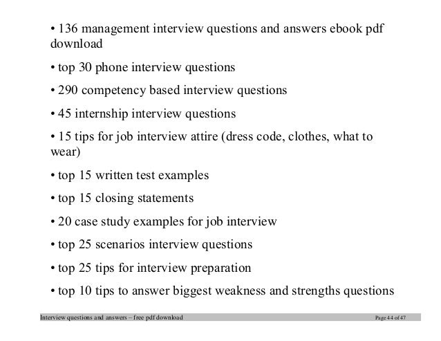 Interview Questions ...  Case Manager Interview Questions