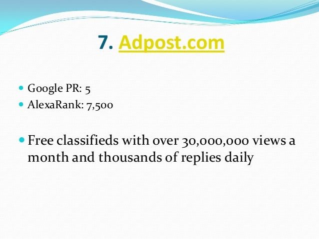 Top 10 Ad Posting Classifieds Sites 2018