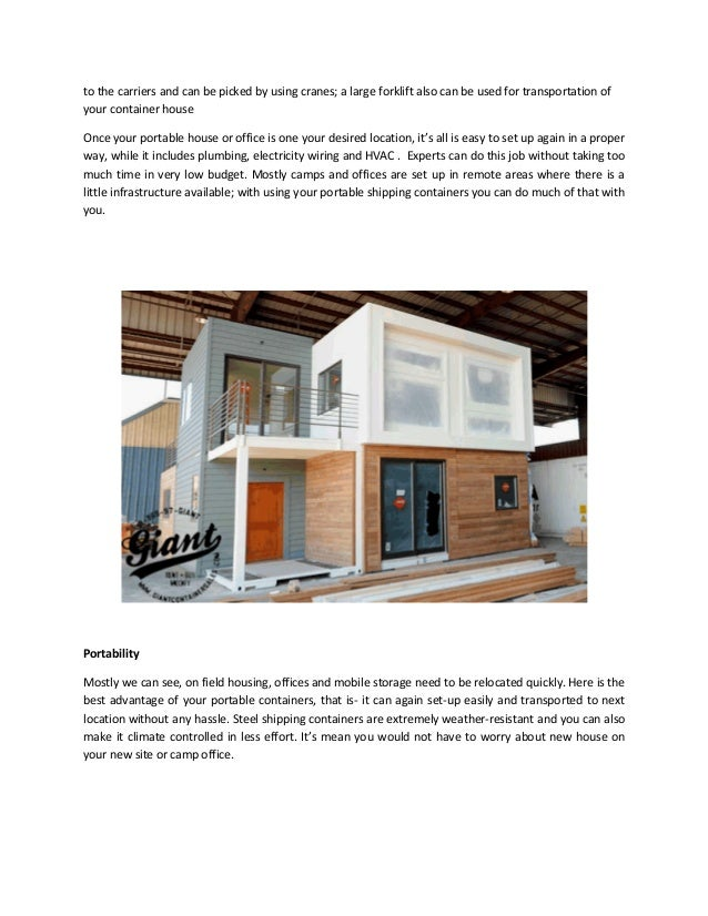 Cargo container house can be loaded on; 2. ...