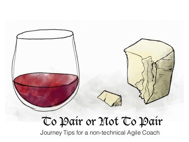 To Pair or Not To Pair Journey Tips for a non-technical Agile Coach