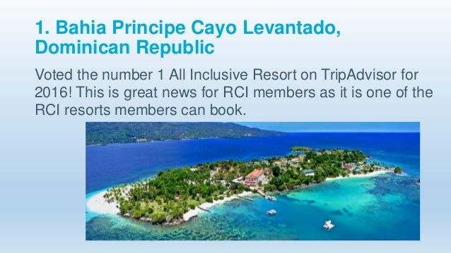 Top all inclusive rci resorts 2016 for Number one all inclusive resort