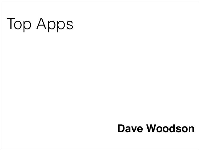 Top Apps  Dave Woodson