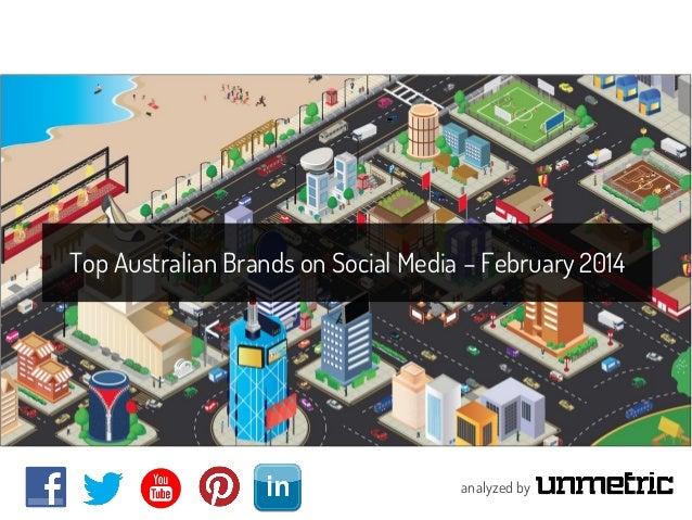 Top Australian Brands on Social Media – February 2014  analyzed by