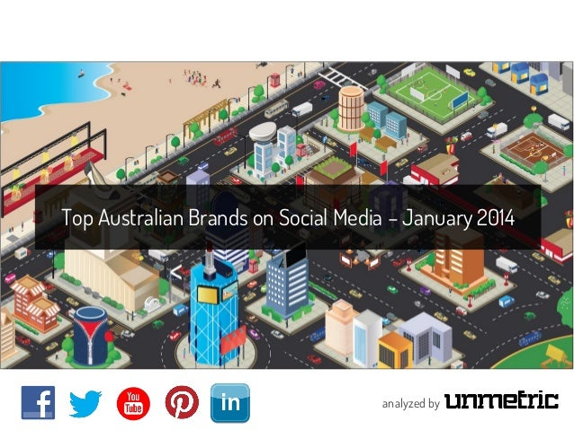 Top Australian Brands on Social Media – January 2014  analyzed by