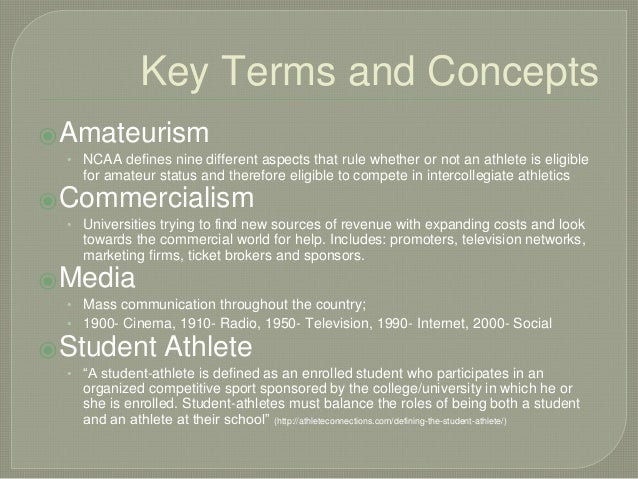 "the redundancy of ncaa amateurism for collegiate athletes Ncaa amateurism and athletics: a perfect marriage or a dysfunctional  relationship  collegiate athletic association (""ncaa"") heisman trophy  winner, the ongoing  market is a ground for dismissal) 130 worldwide."