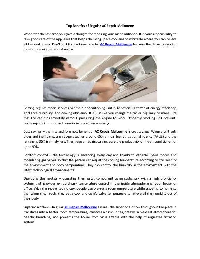 Top benefits of regular ac repair melbourne