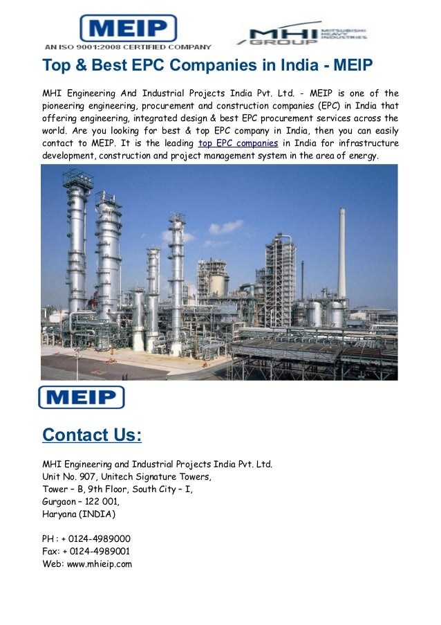 Top & Best EPC Companies in India - MEIP