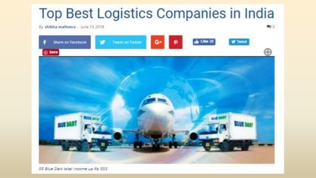 Top best logistics companies in india