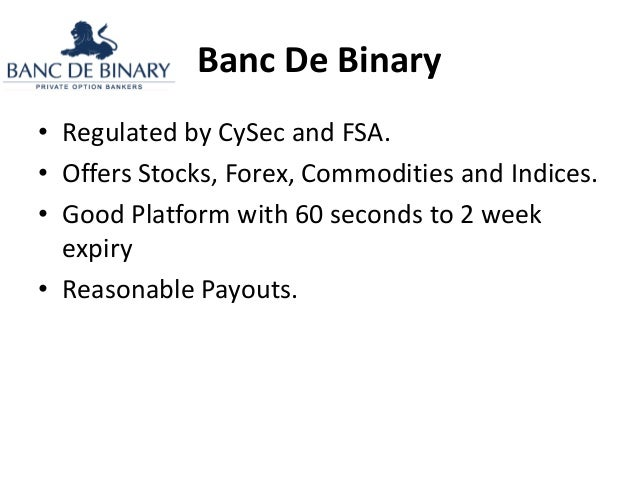 Binary options broker comparison