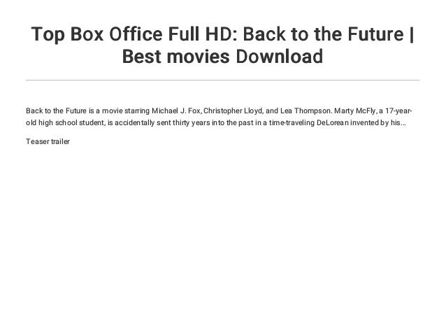 Top Box Office Full HD: Back to the Future | Best movies
