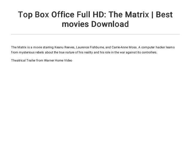 the matrix full movie download