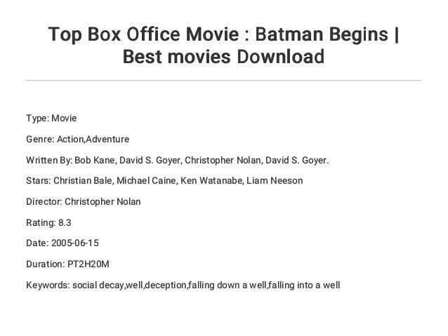 Top Box Office Movie : Batman Begins | Best movies Download