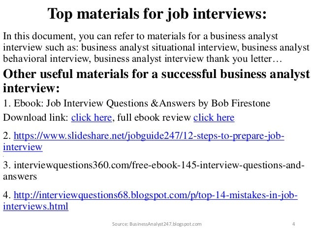 Business analyst interview questions and answers australia